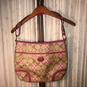 Coach Peyton Hobo Bag with Pink Patent Leather